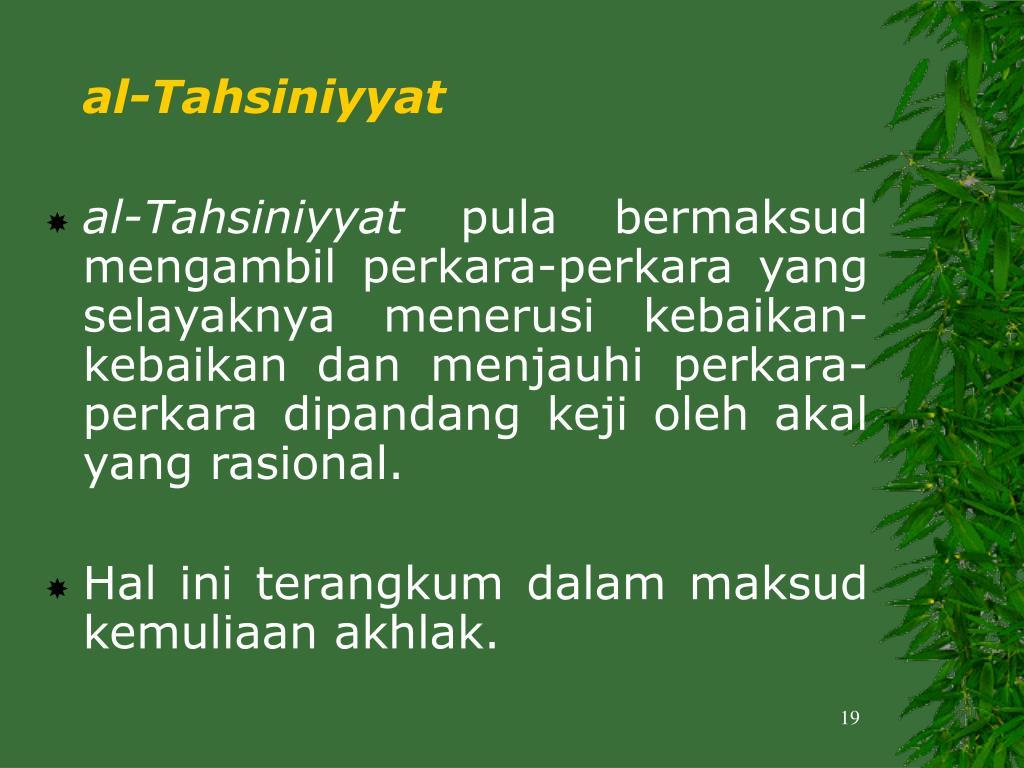 al-Tahsiniyyat