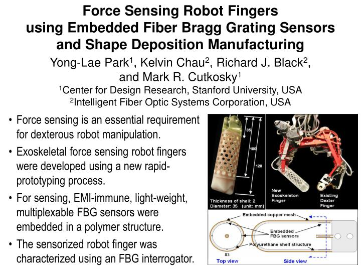 Force Sensing Robot Fingers
