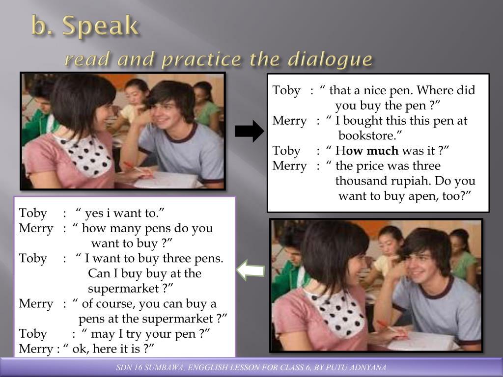 b. Speak