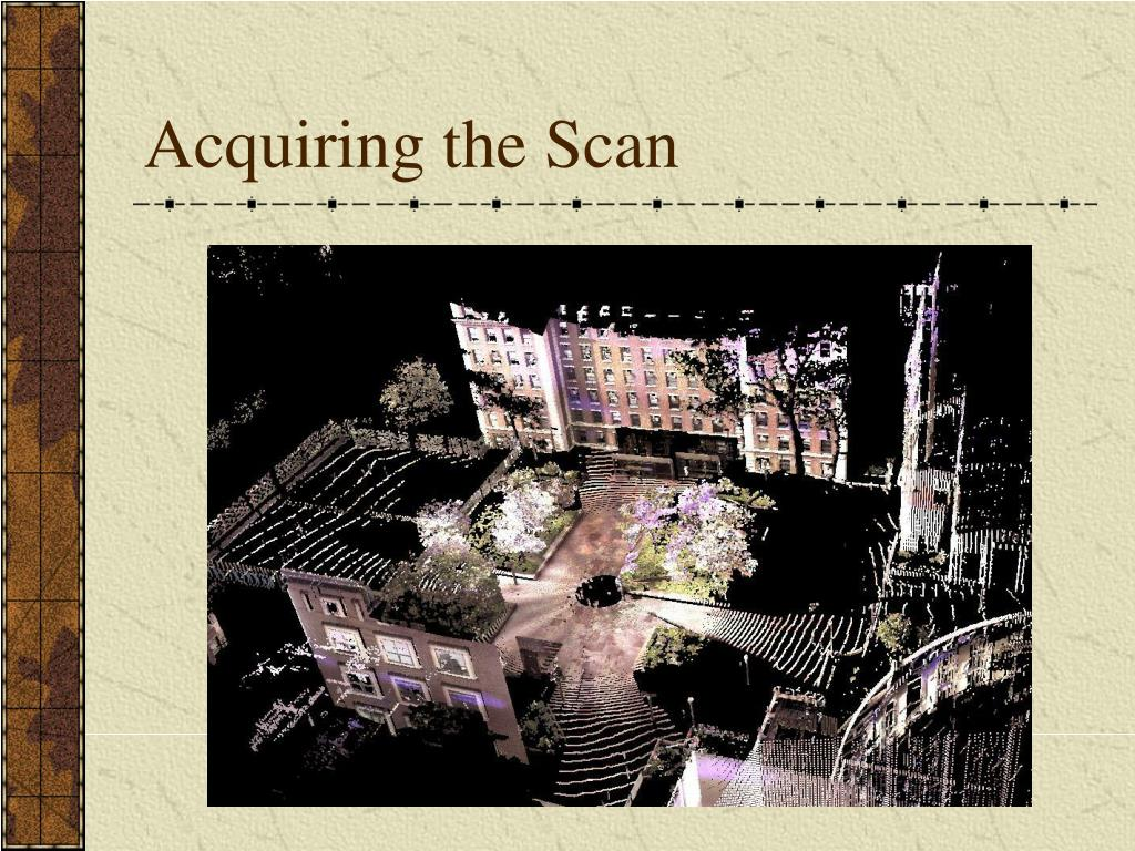 Acquiring the Scan