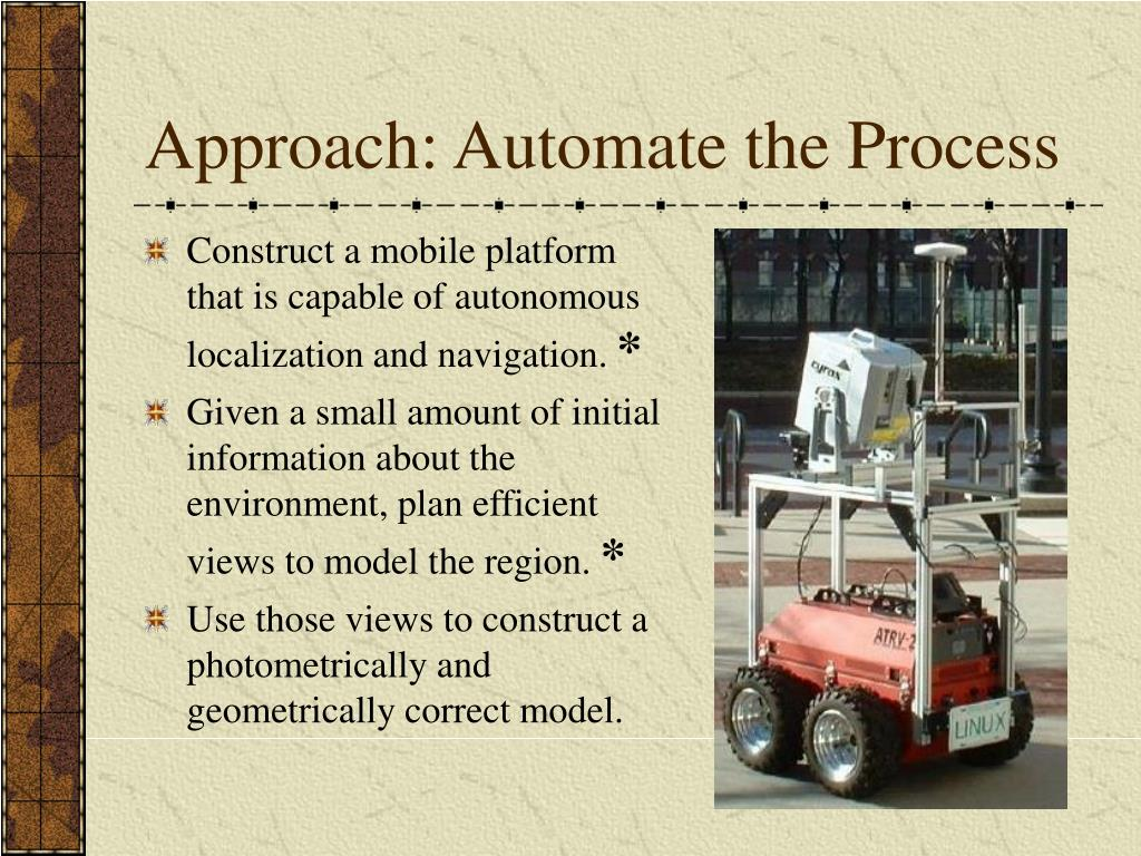 Approach: Automate the Process