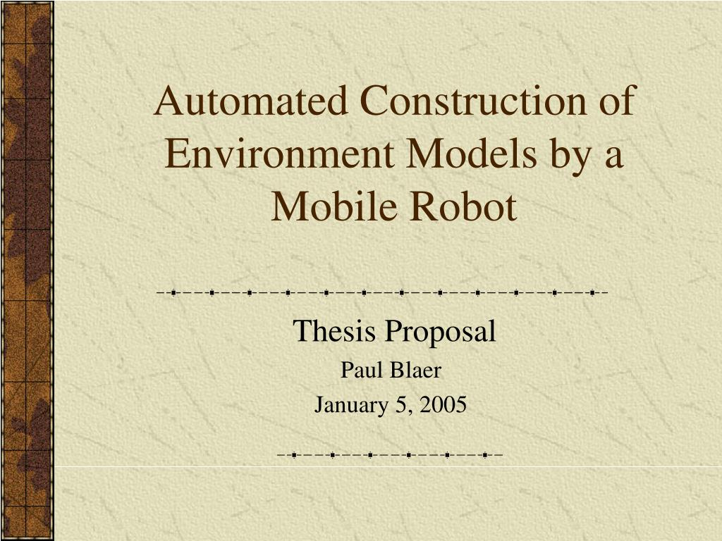 Automated Construction of Environment Models by a Mobile Robot