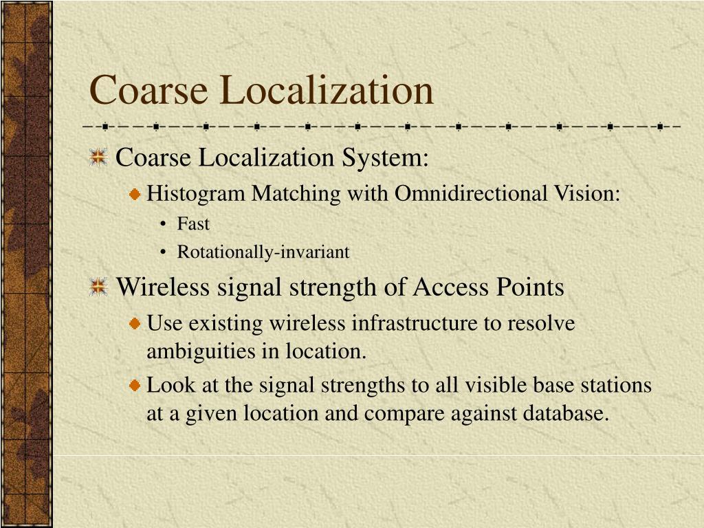 Coarse Localization