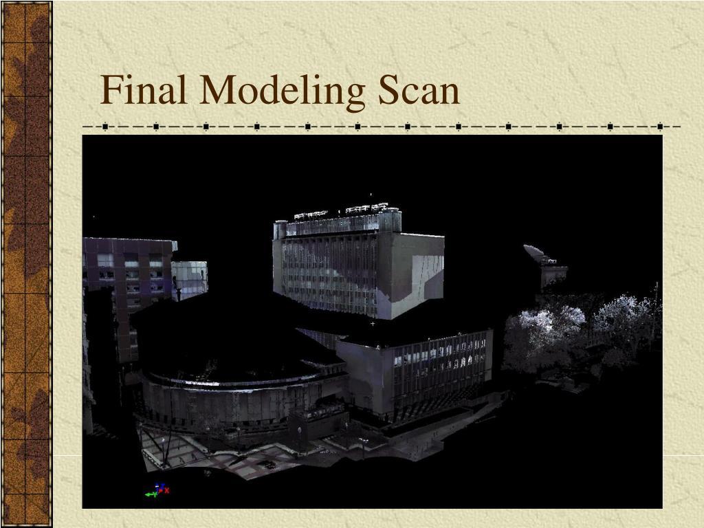 Final Modeling Scan