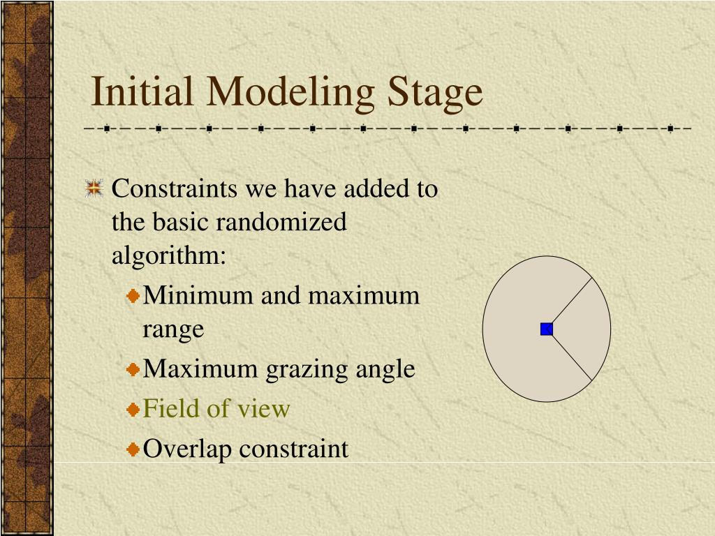 Initial Modeling Stage