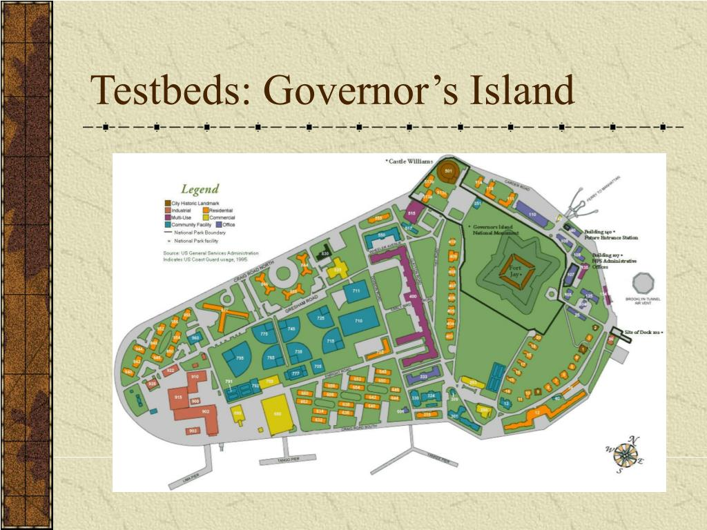Testbeds: Governor's Island