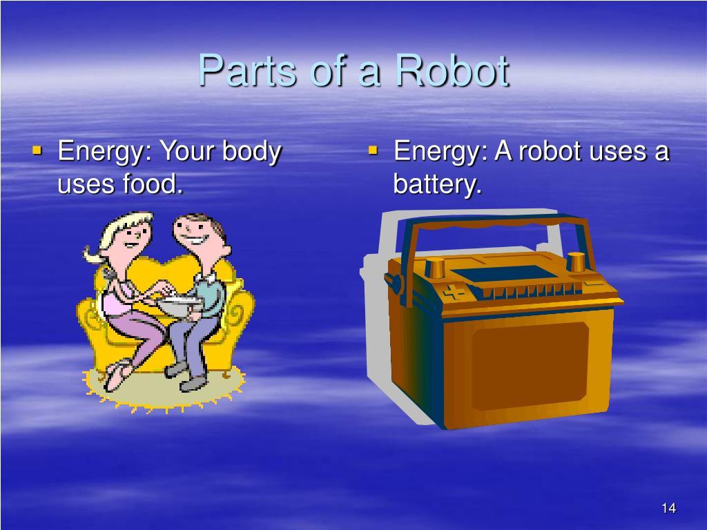 Energy: Your body uses food.
