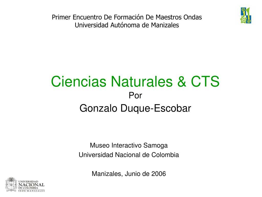 Ciencias Naturales & CTS