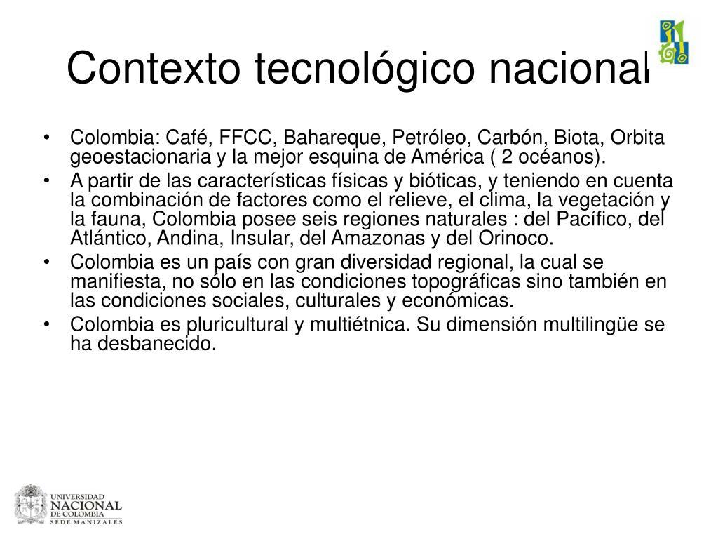 Contexto tecnológico nacional