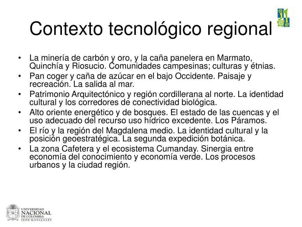 Contexto tecnológico regional