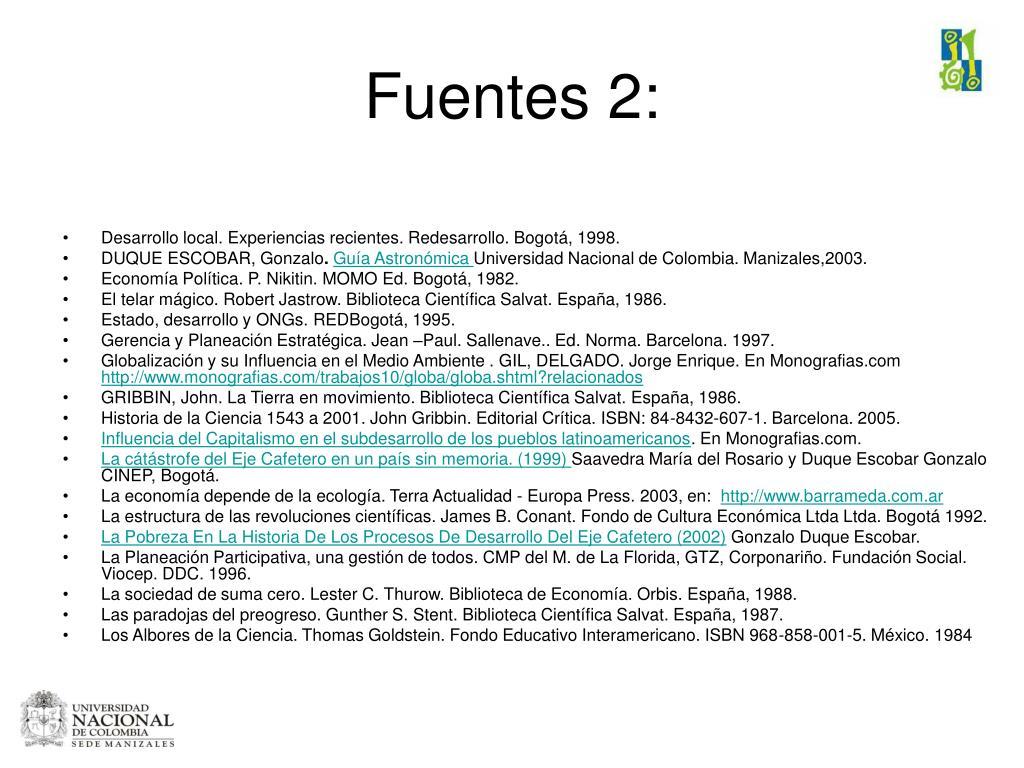 Fuentes 2: