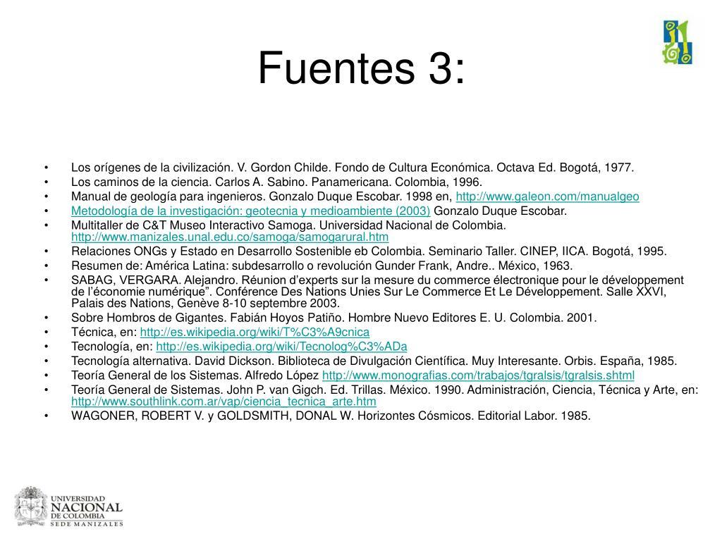 Fuentes 3: