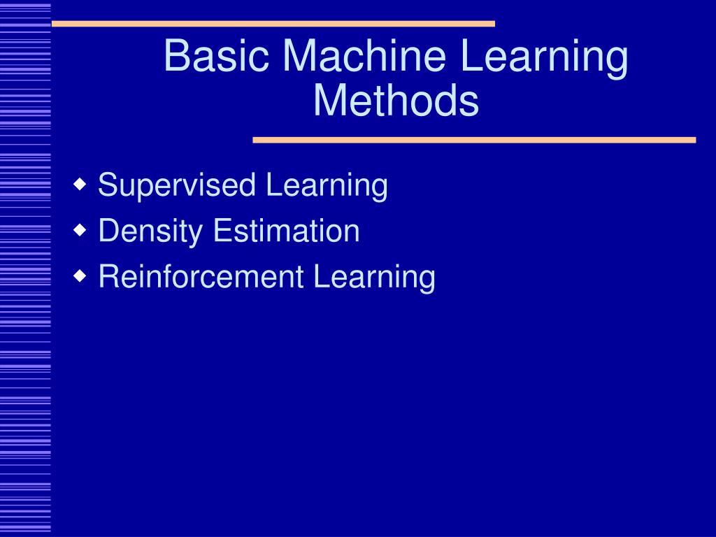 Basic Machine Learning Methods
