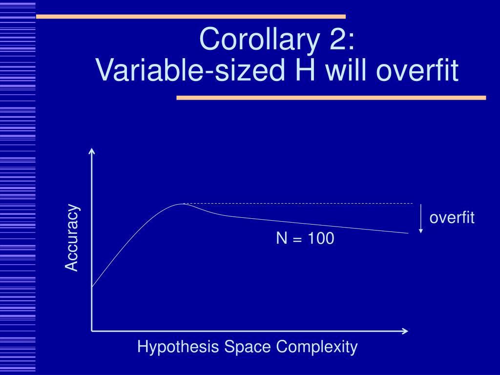 Corollary 2: