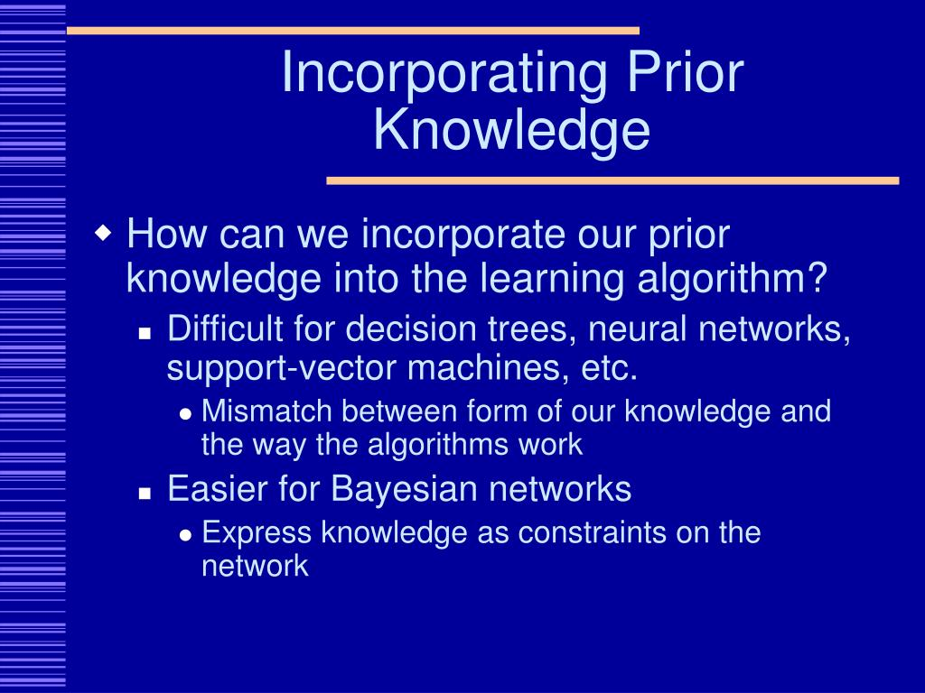 Incorporating Prior Knowledge