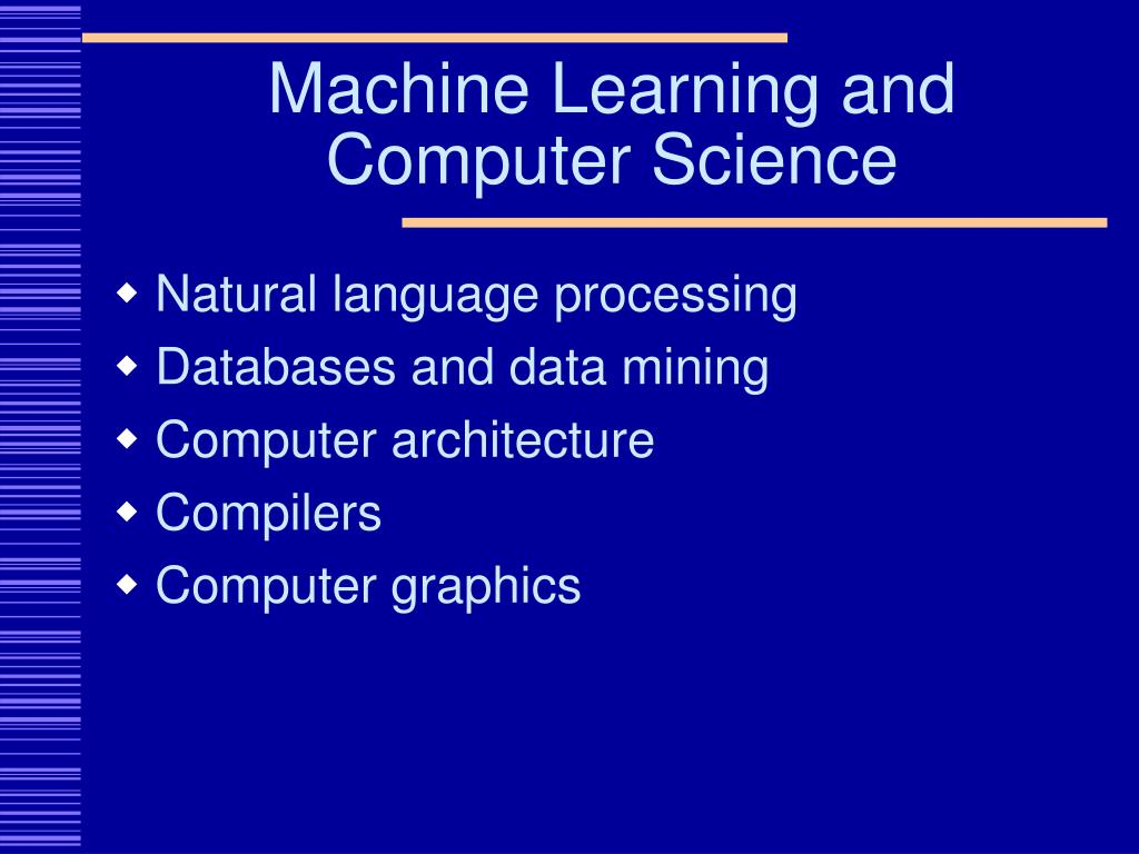 Machine Learning and