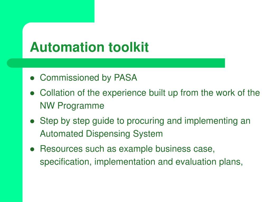 Automation toolkit