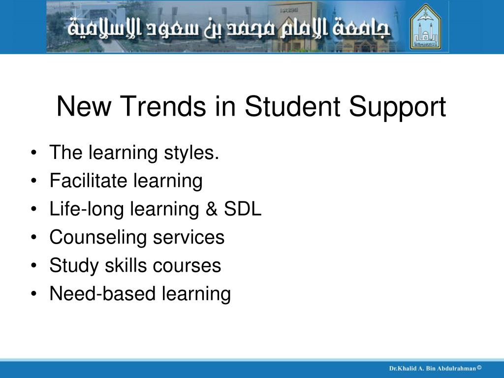 New Trends in Student Support
