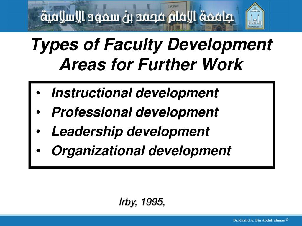 Types of Faculty Development