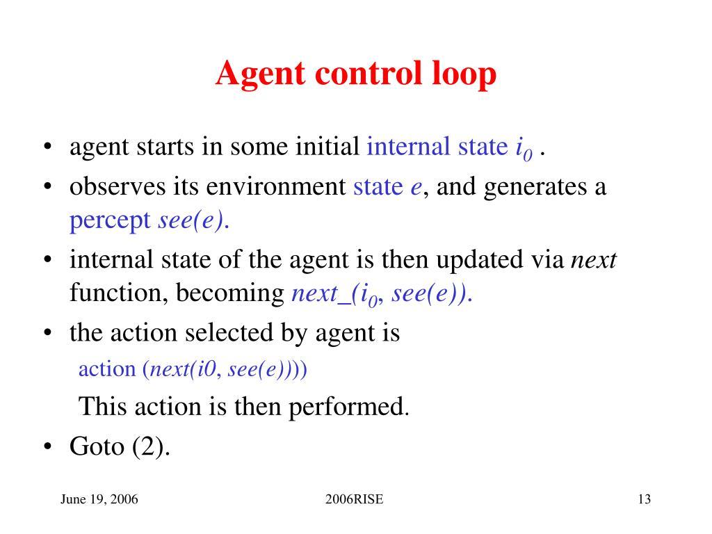 Agent control loop