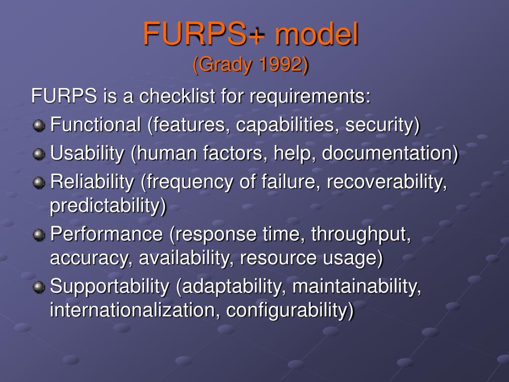 FURPS+ model