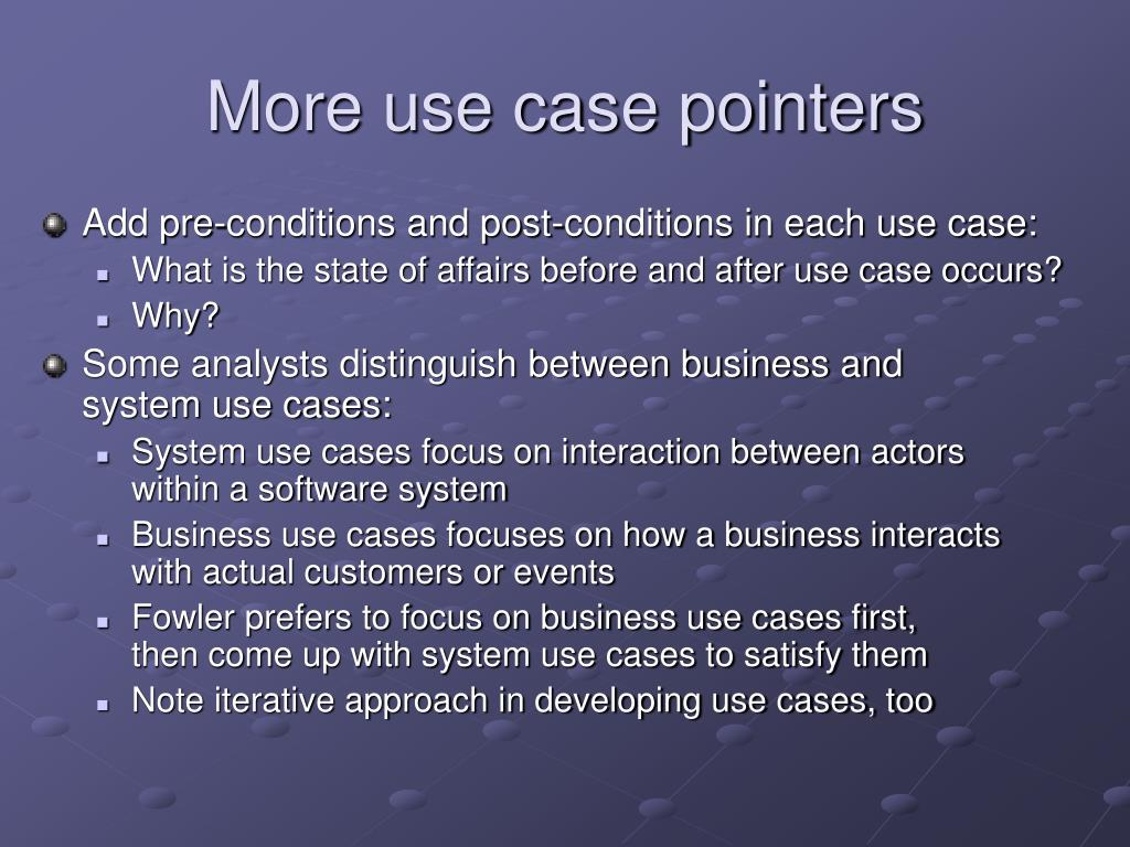 More use case pointers