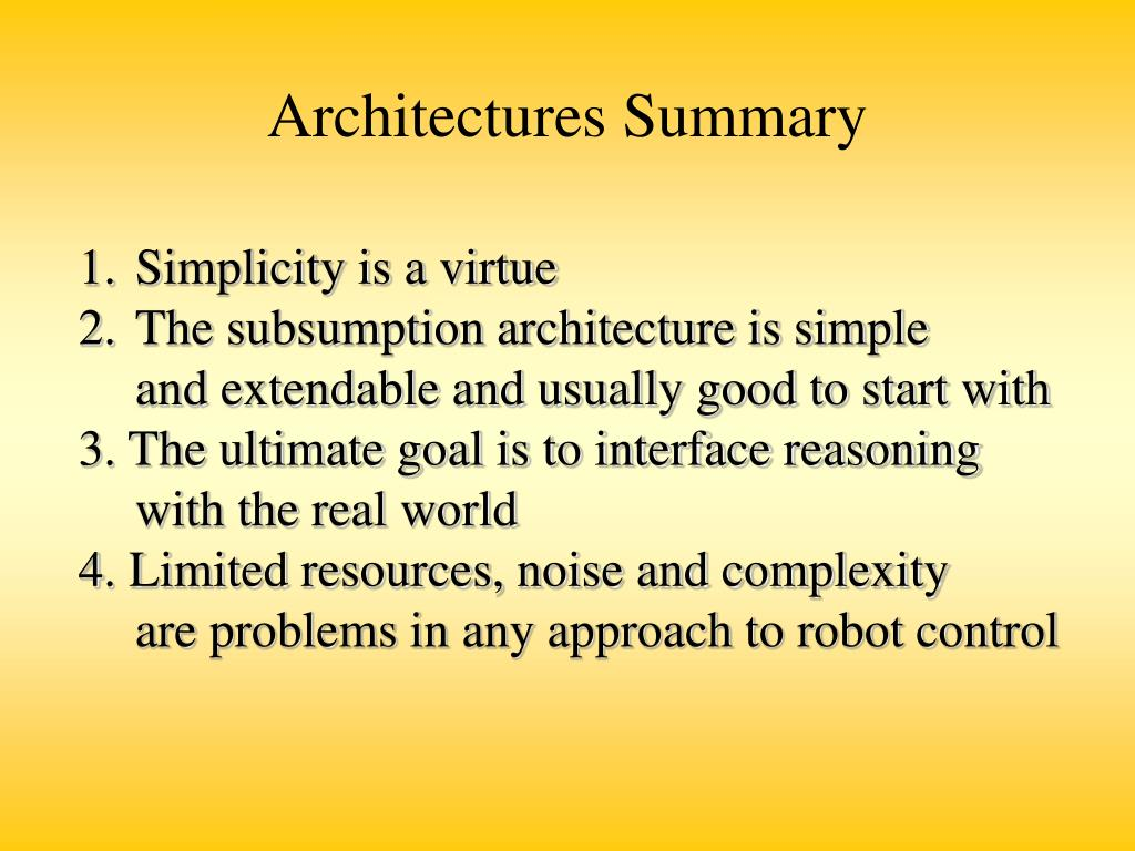 Architectures Summary