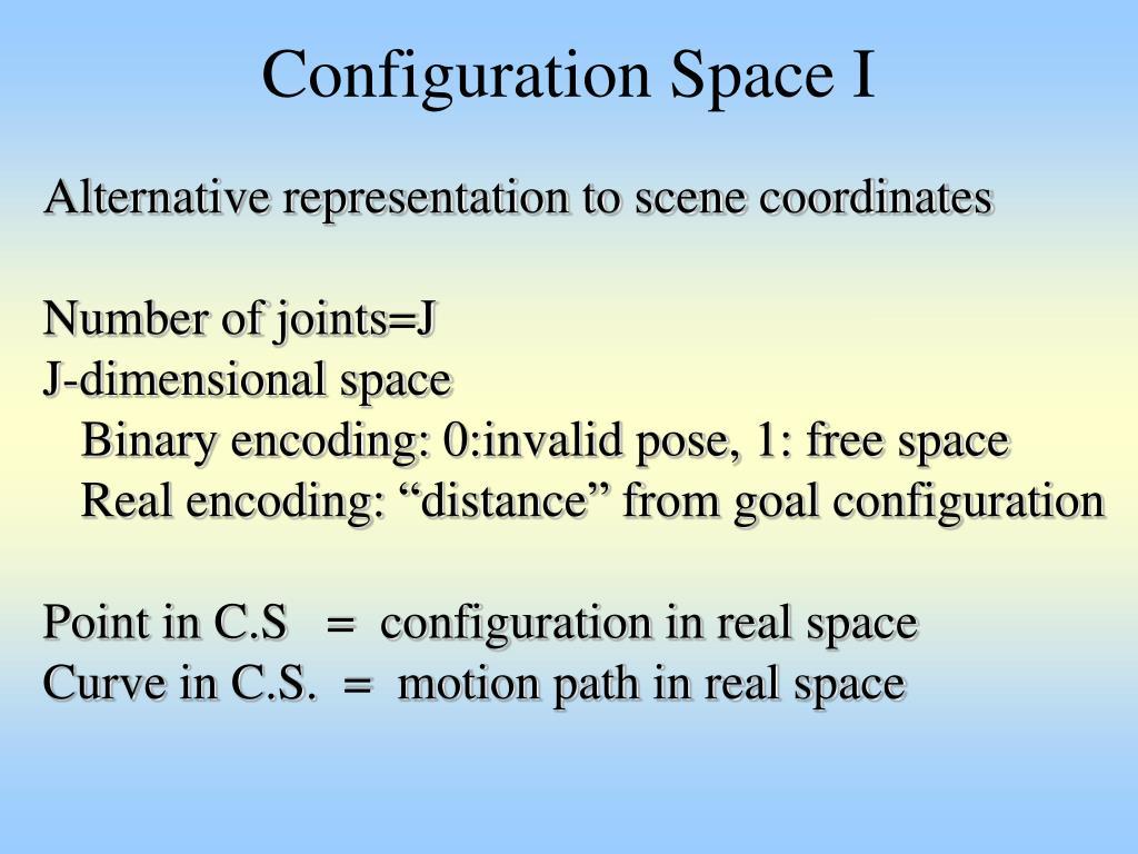 Configuration Space I