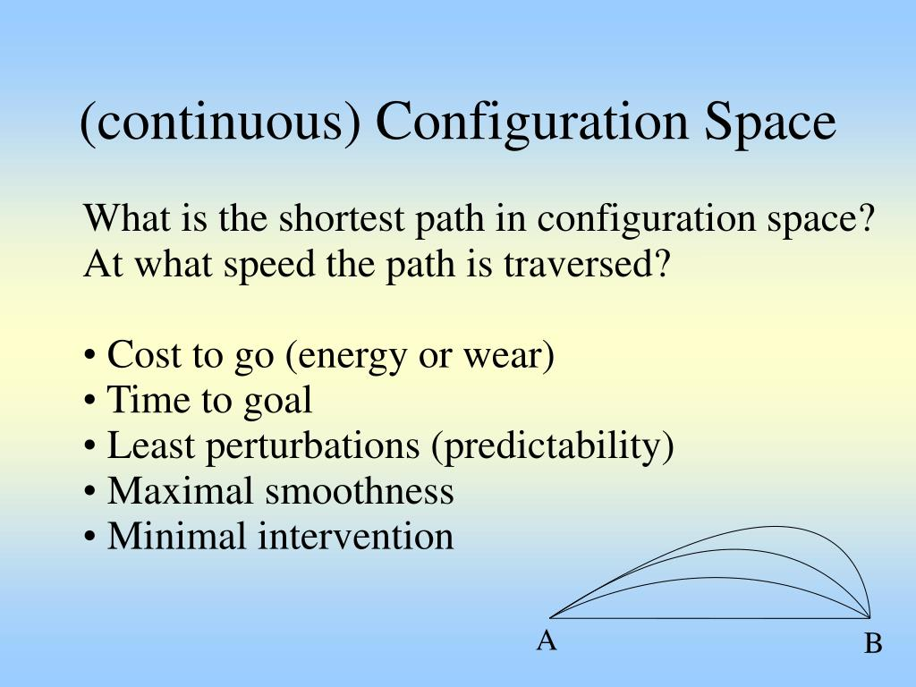 (continuous) Configuration Space