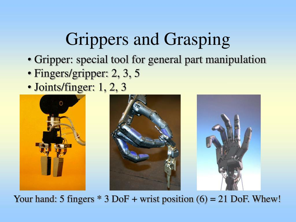 Grippers and Grasping