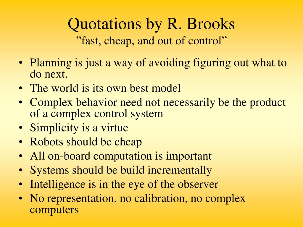 Quotations by R. Brooks