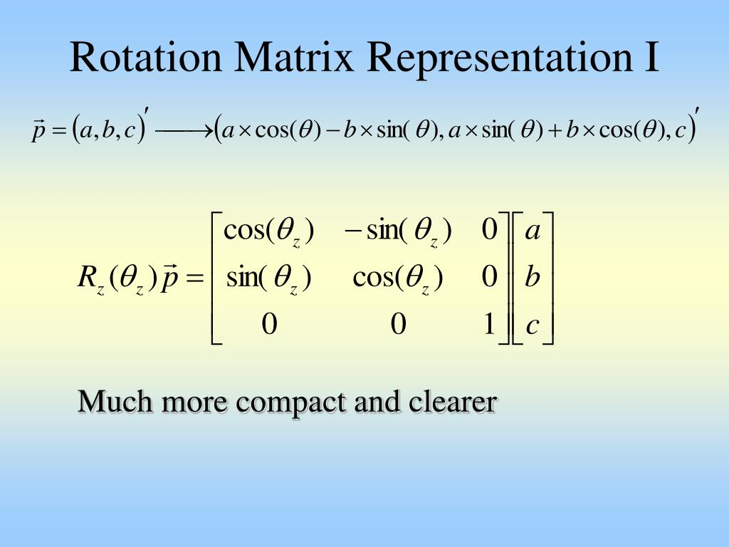 Rotation Matrix Representation I