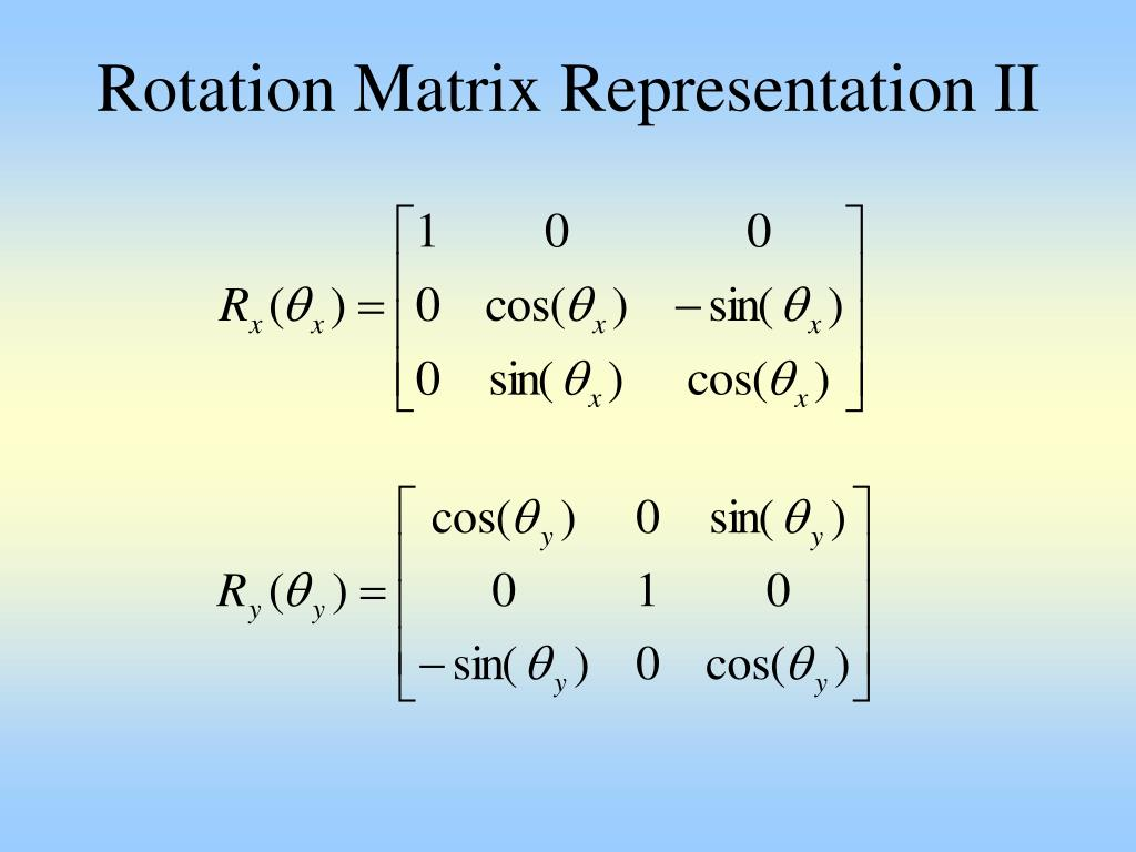 Rotation Matrix Representation II