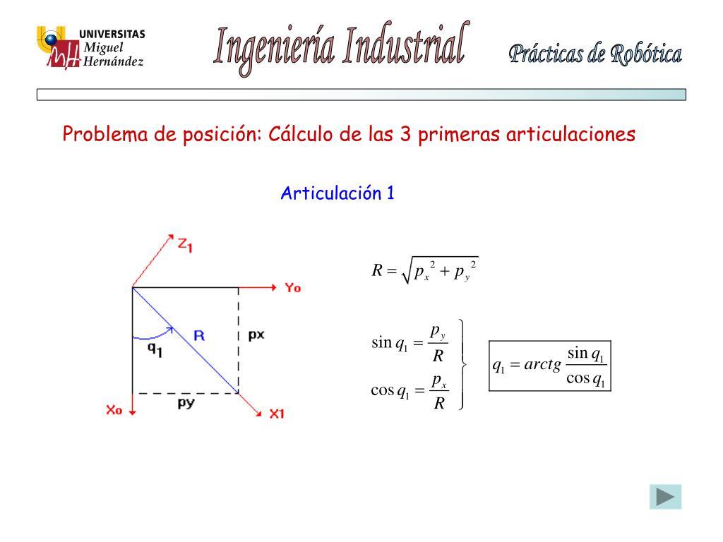 Problema de posición: Cálculo de las 3 primeras articulaciones