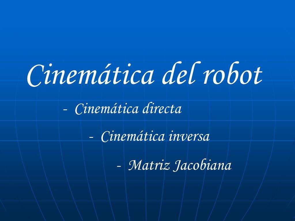 Cinemática del robot