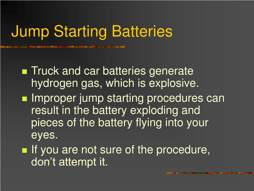 Jump Starting Batteries