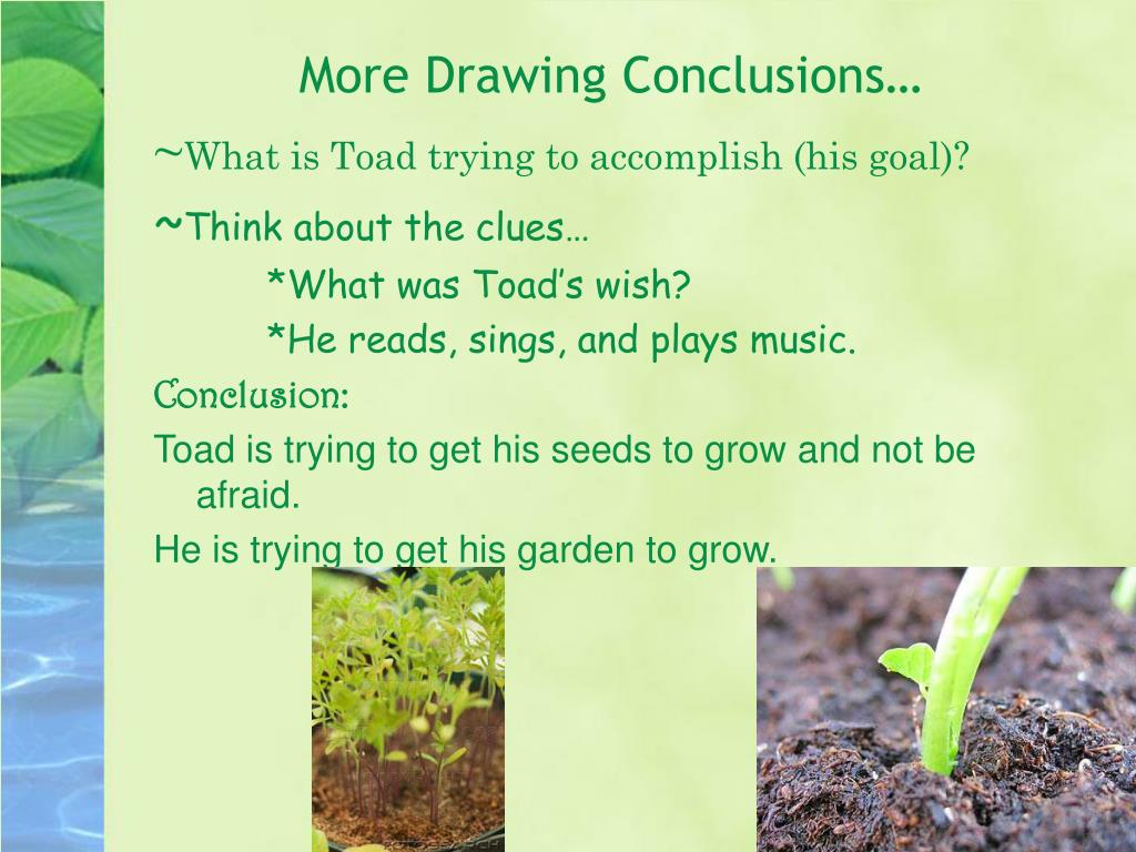 More Drawing Conclusions…