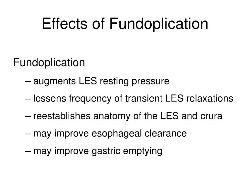 Effects of Fundoplication