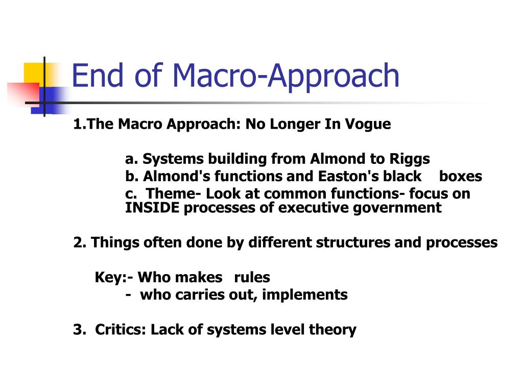 End of Macro-Approach