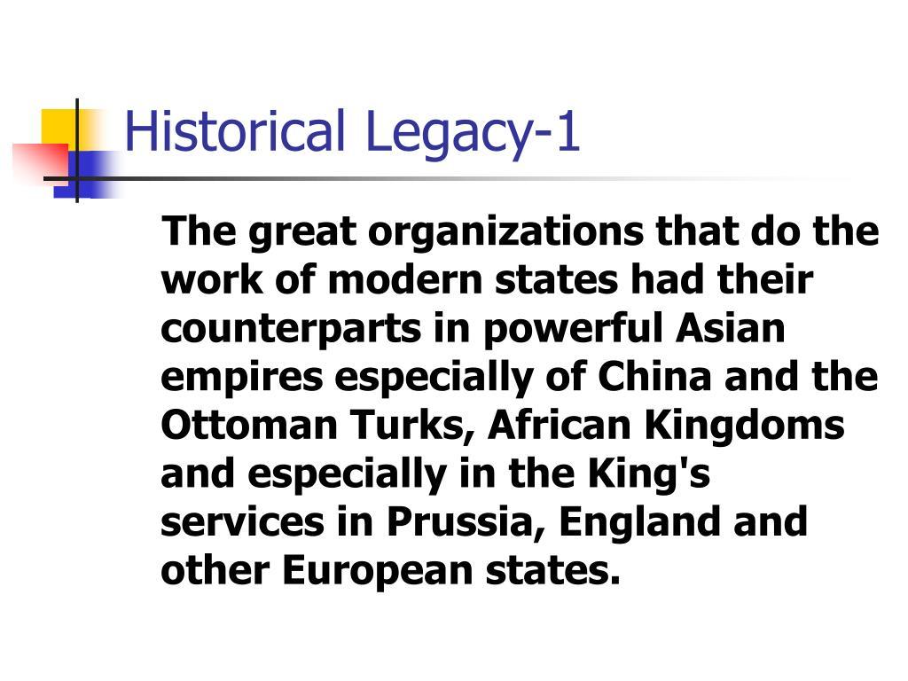 Historical Legacy-1