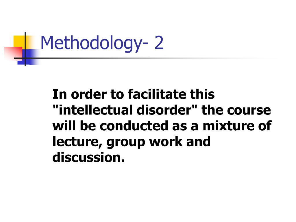 Methodology- 2