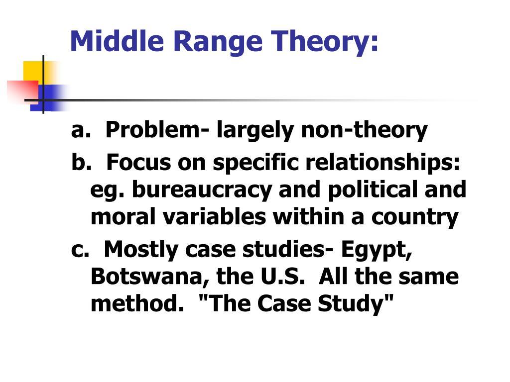 Middle Range Theory: