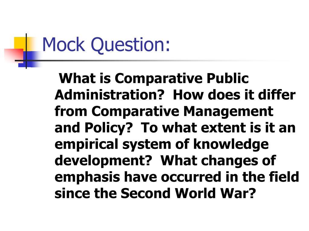 Mock Question: