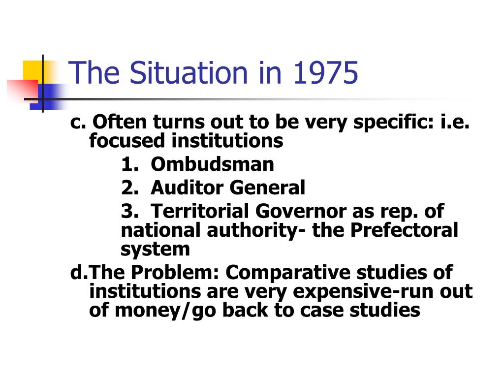 The Situation in 1975