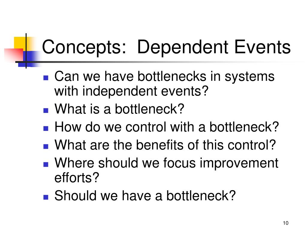 Concepts:  Dependent Events