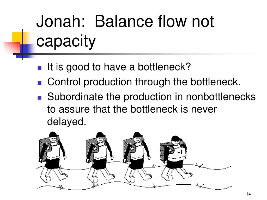 Jonah:  Balance flow not capacity