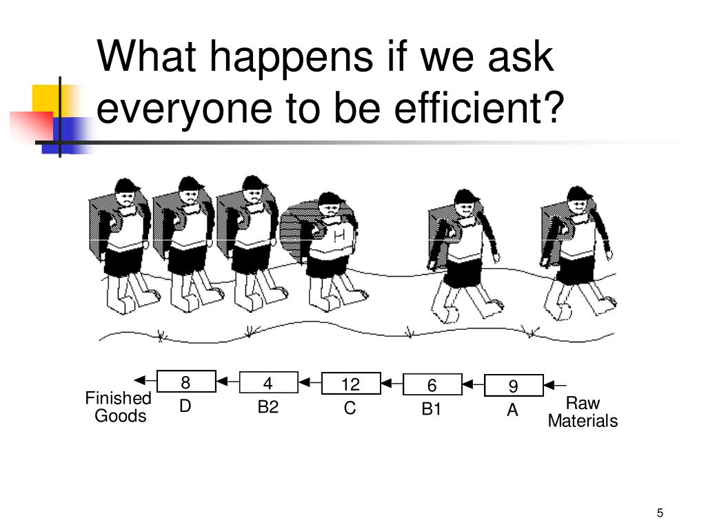 What happens if we ask everyone to be efficient?