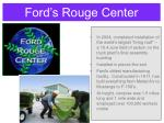 ford s rouge center