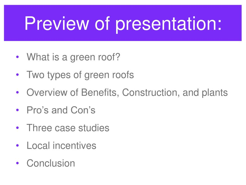 Preview of presentation:
