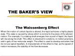 the baker s view